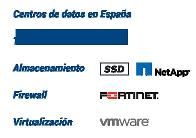 arsenet CLoud Hosting, Centros de Datos en España, Tráfico ilimitado, Almacenamiento SSD, Firewall Fortinet, Virtualización VMware